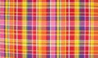 Cotton 100% Poplin Fabric Material Tartan Madras Check Rainbow 010